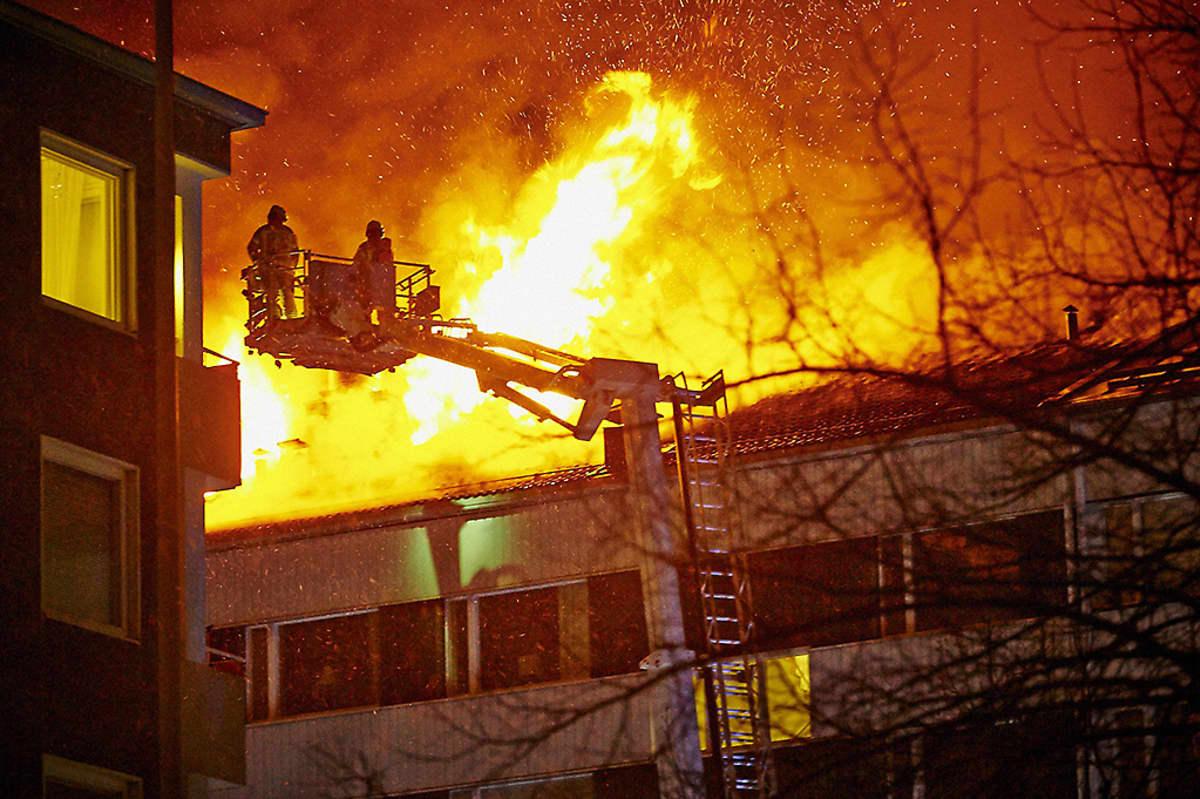 Tulipalo Ursininkadulla Turussa 2. tammikuuta 2016.