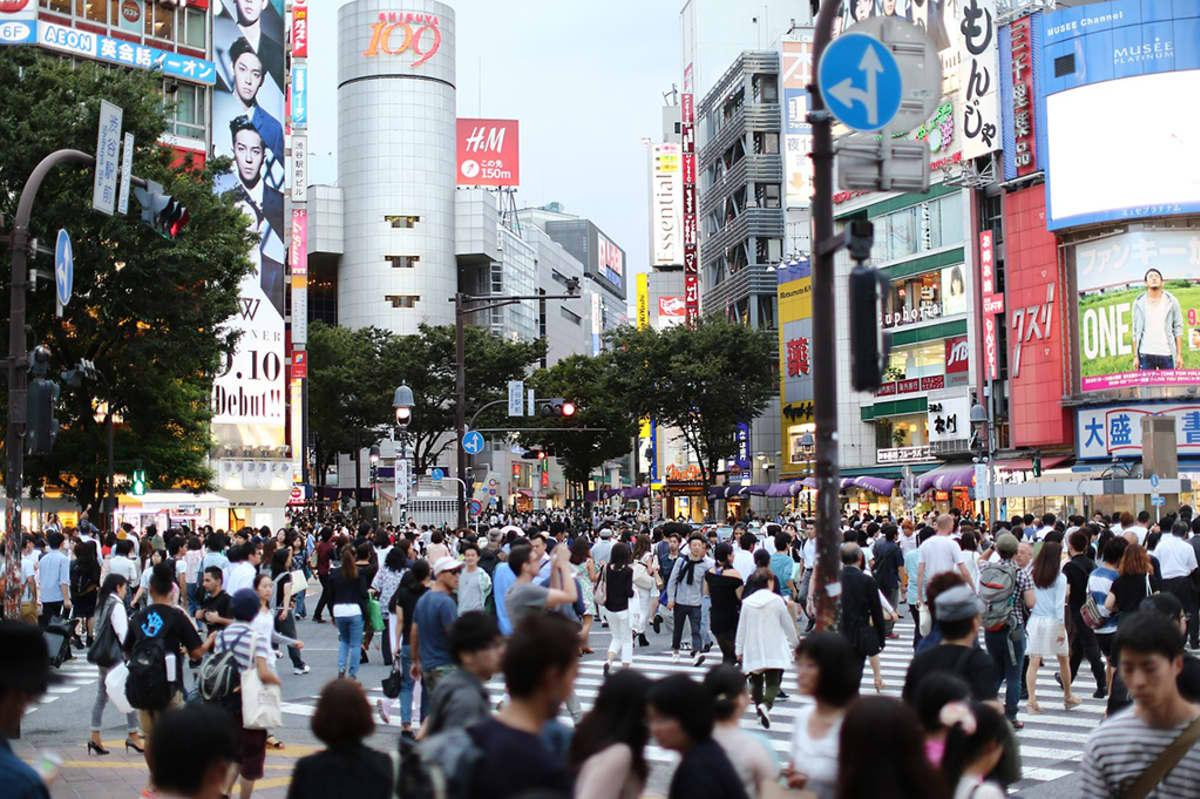 Tokion katunäkymää.