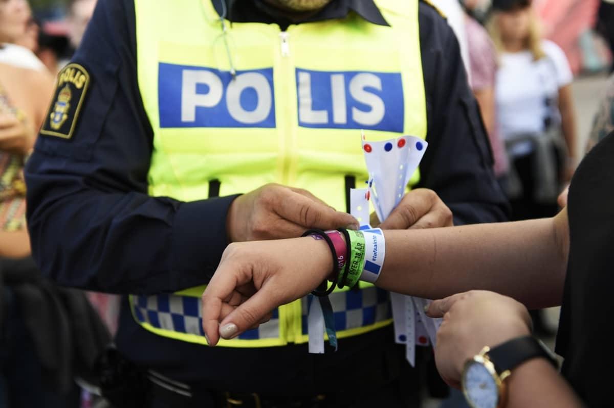 Ruotsin poliisi toteutti kesäkampanjan nuorten seksuaalisesta häirinnästä 2016.