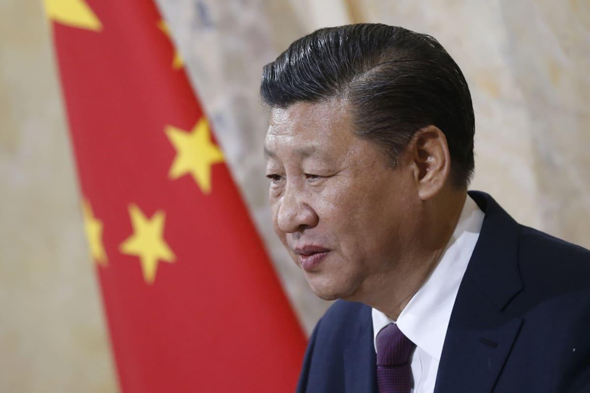Kiinan presidentti Xi Jinping puhui Sveitsin parlamentille tammikuussa 2017.