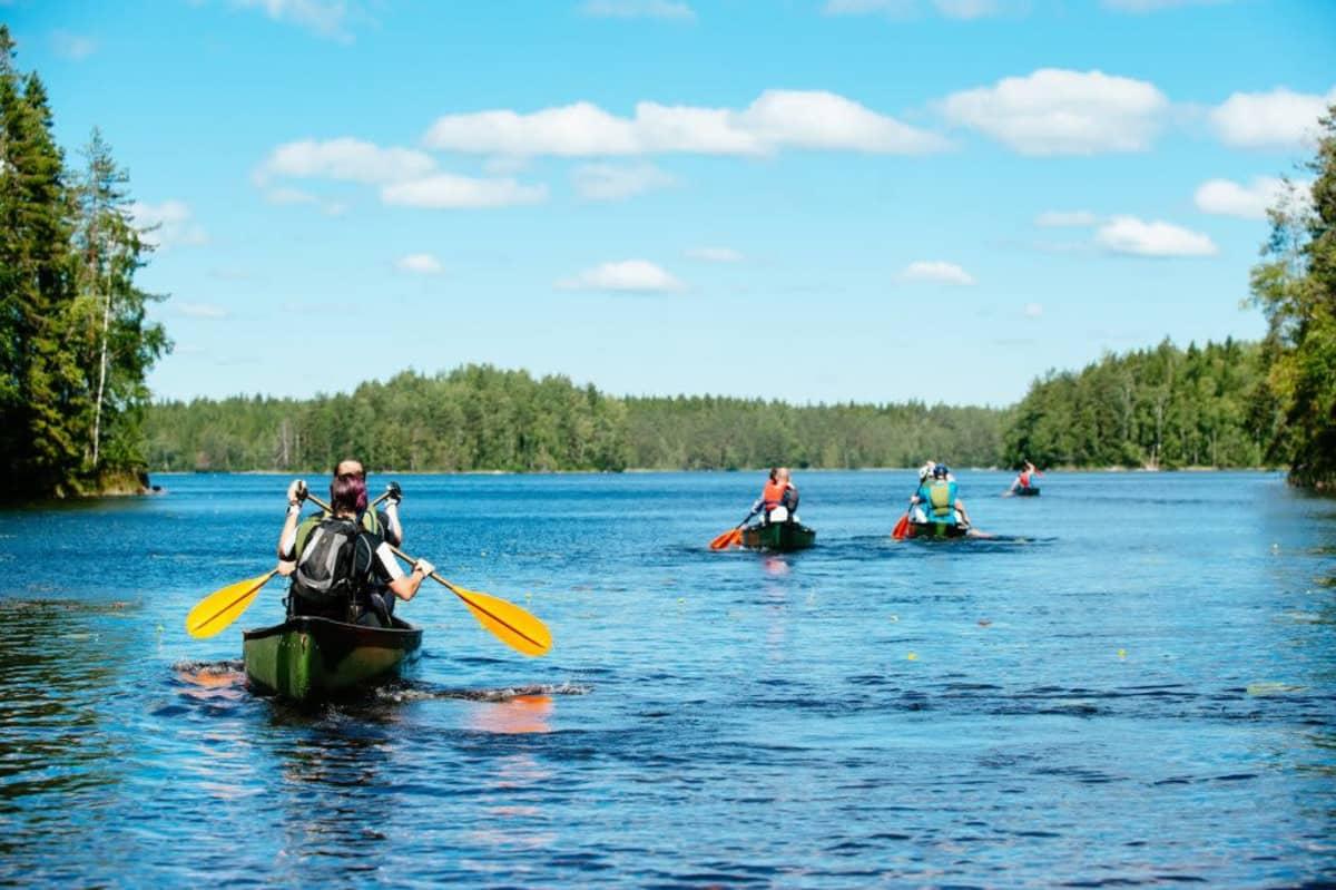 Melojia järvellä Marski Challengessa vuonna 2017