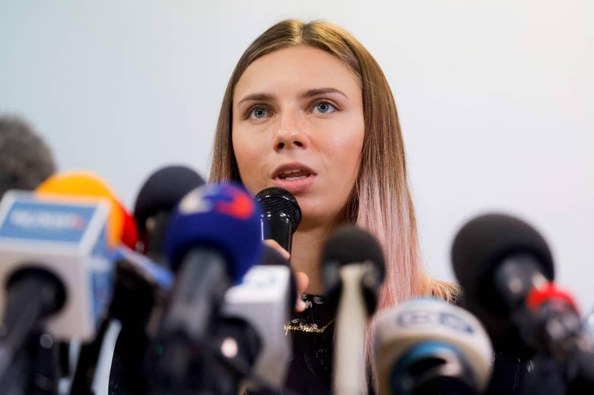 Valkovenäläinen pikajuoksija Krystsina Tsimanouskaja.