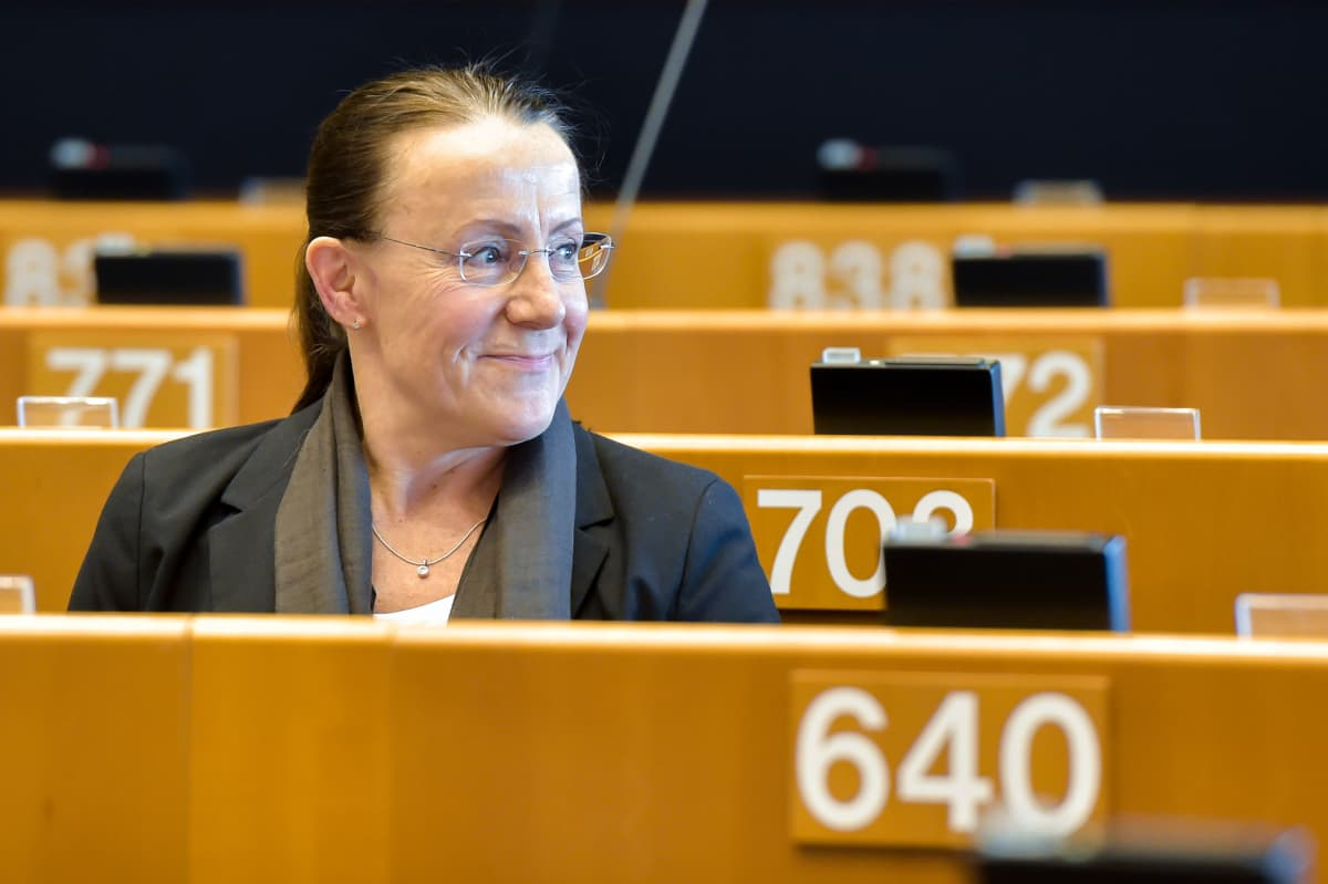 Pirkko Ruohonen-Lerner (ps) Euroopan parlamentissa.