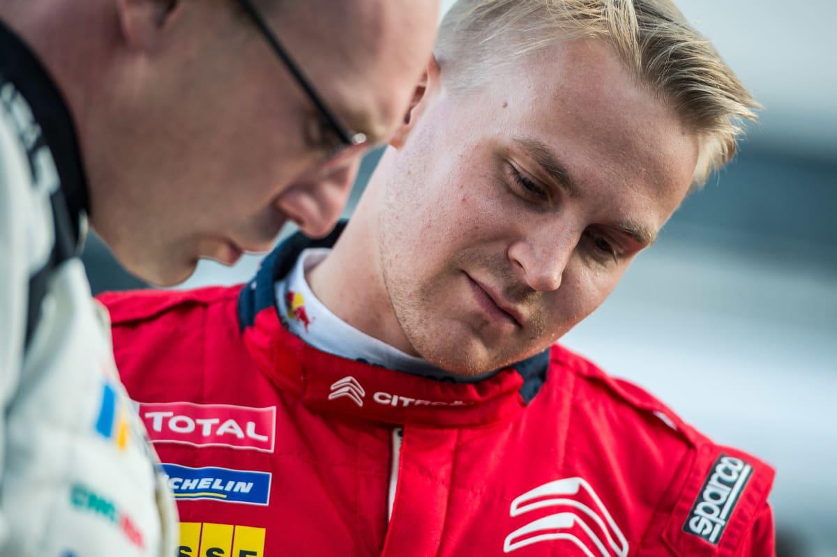 Esapekka Lappi ja Jari-Matti Latvala Jyväskylän MM-rallissa 2019.