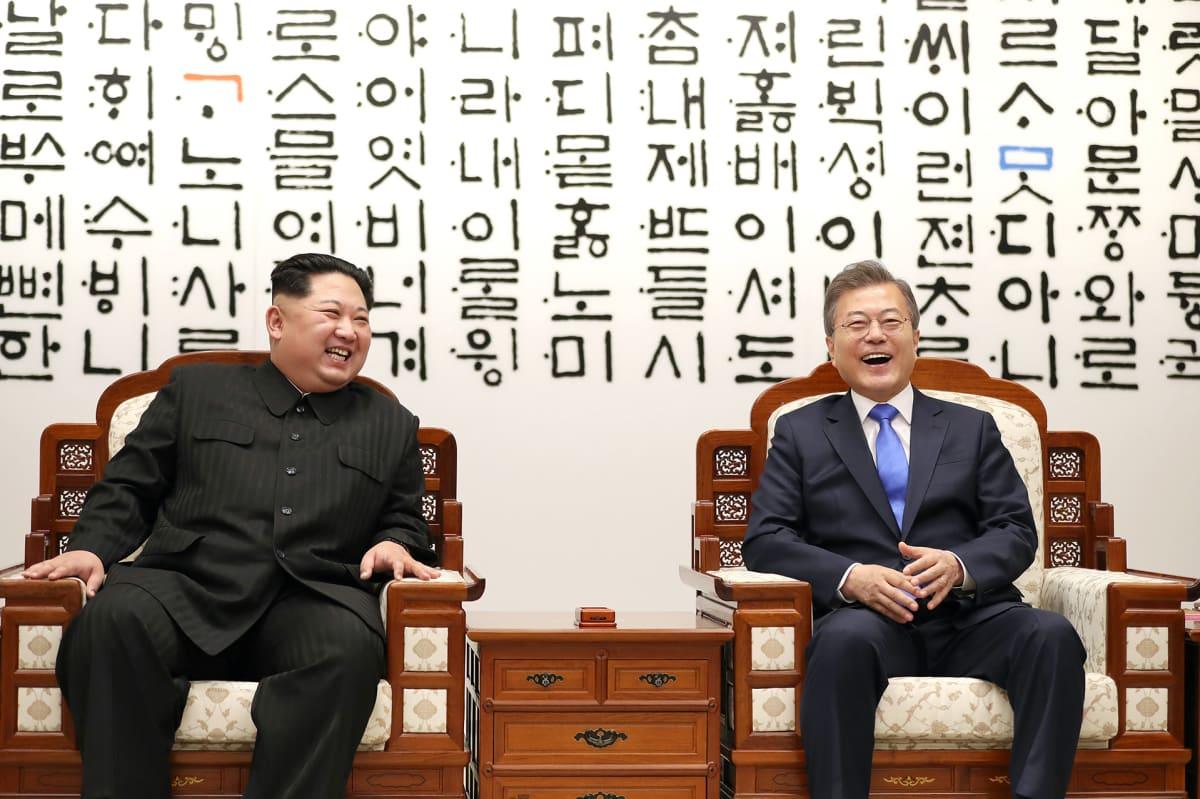 Moon Jae-in ja Kim Jong-un