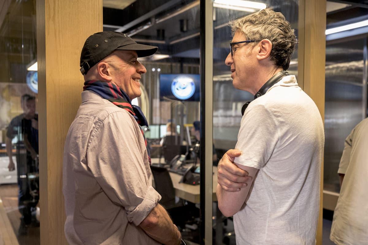 Ohjaaja Jacques Audiard ja sarjan luoja Eric Rochant.
