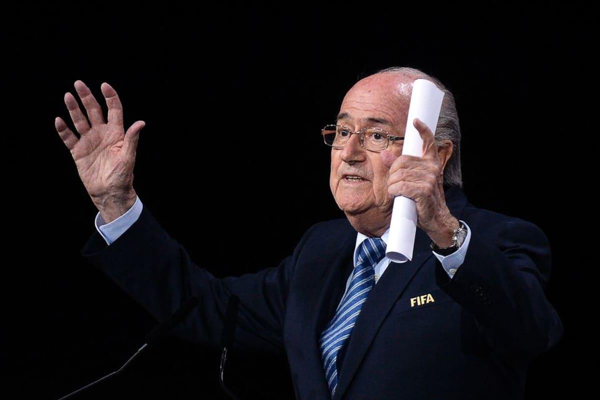 Sepp Blatter puhui Zürichissä ennen Fifan puheenjohtajan äänestystä.
