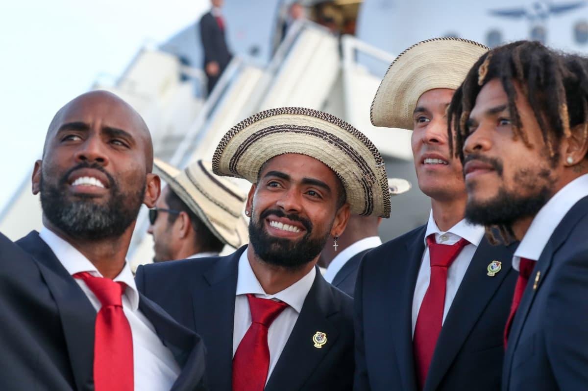 Panaman pelaajat saapuivat viime viikolla iloisina Venäjän MM-turnaukseen.