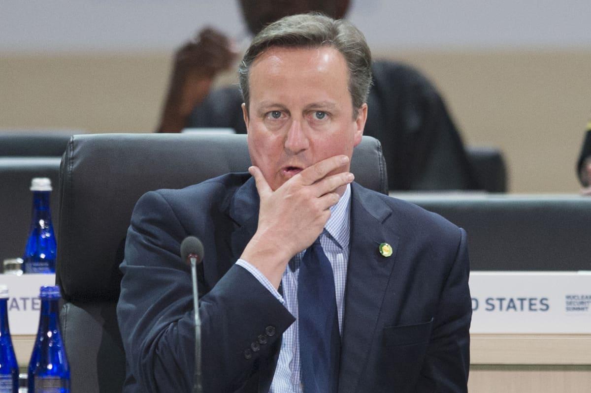Iso-Britannian pääministeri David Cameron.