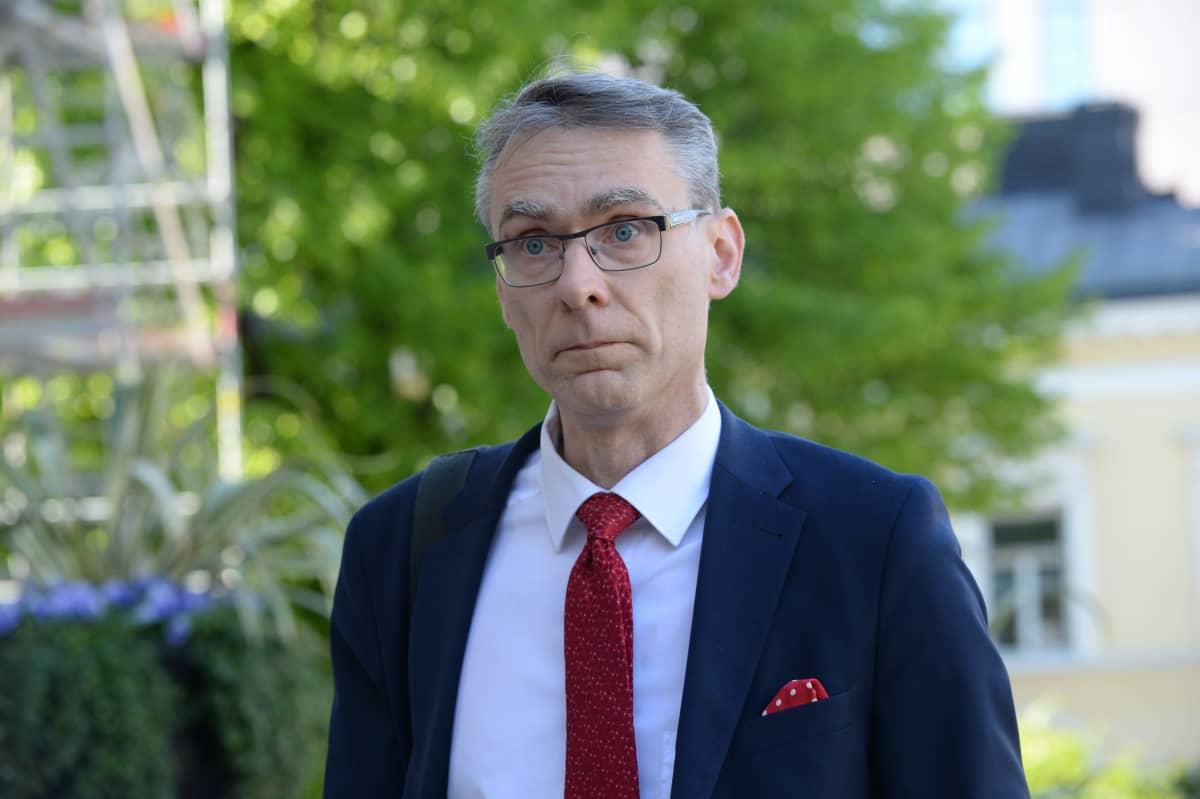 Oikeuskansleri Tuomas Pöysti Säätytalolla Helsingissä 3. kesäkuuta 2020.