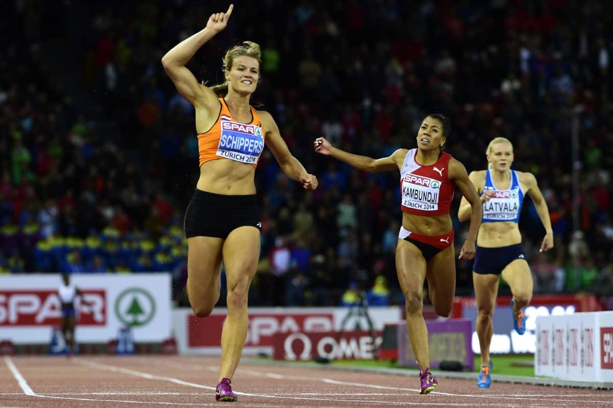 Hanna-Maari Latvala (oik.) oli seitsemäs 200 metrin EM-finaalissa Zürichissä 2014. Sen jälkeen hänellä on ollut tuloksellisesti vaikeaa.