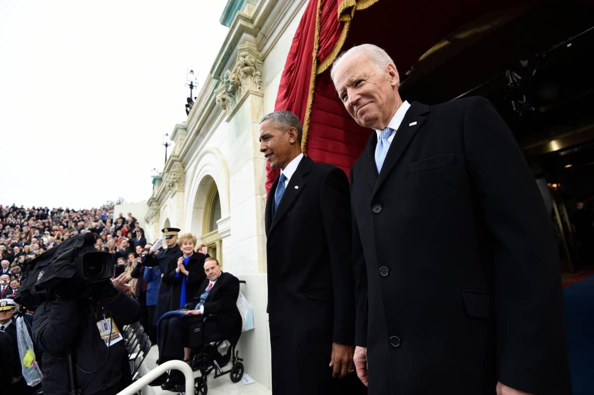 Joe Biden nousi koko kansan tuntemaksi hahmoksi noustuaan Barack Obaman varapresidentiksi. Kuva Donald Trumpin virkaanastujaisista tammikuulta 2017.