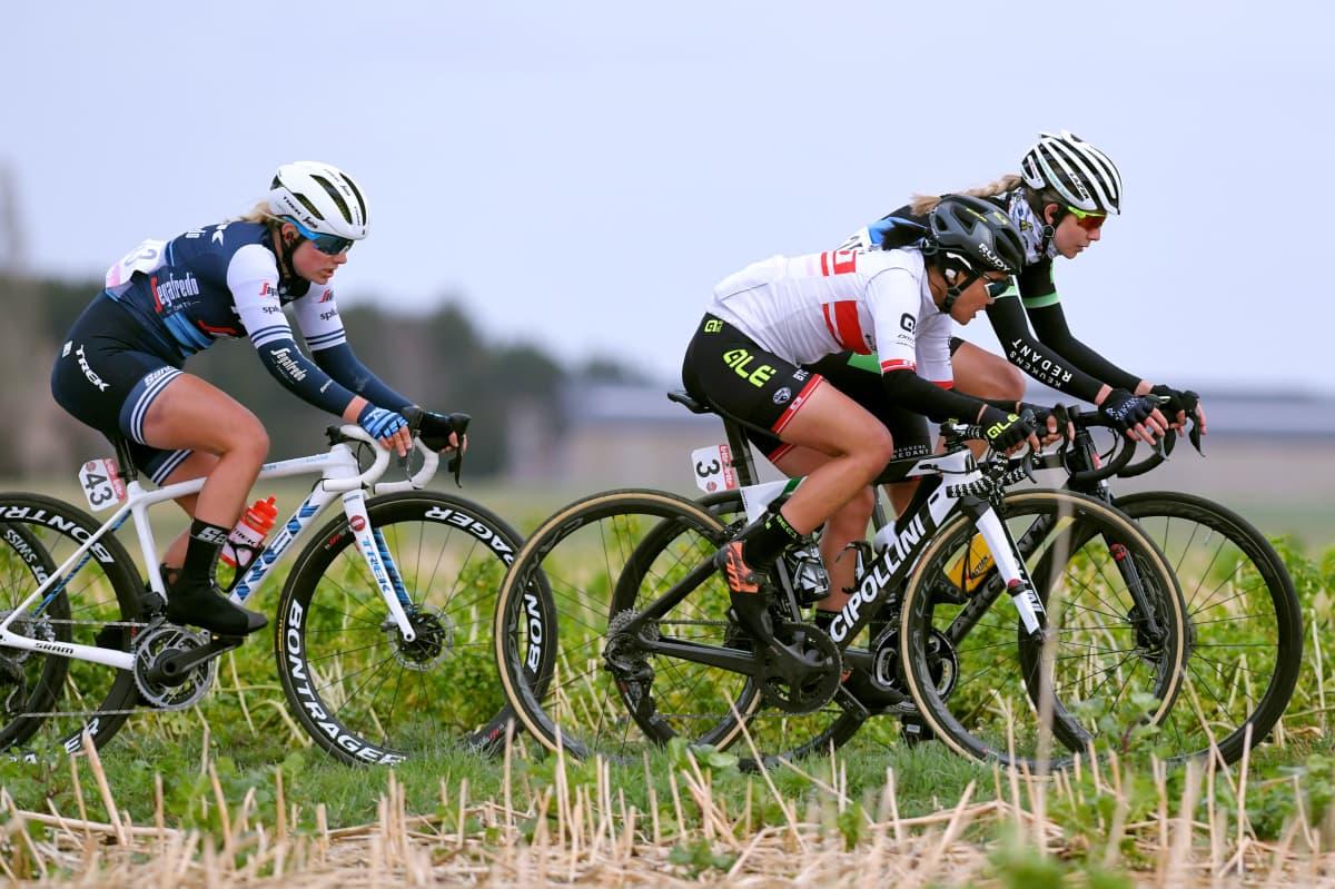 16th Spar Omloop Van Het Hageland 2020 - Women Elite. Lotta Henttala, Team Trek-Segafredo, 130 km kilpailu Tielt-Wingeniin Belgiassa.