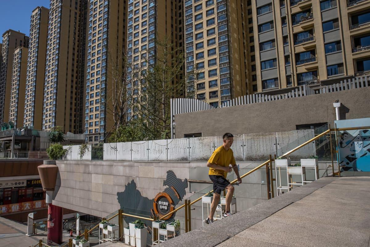 Evergrande City Pekingissä keskiviikkona.