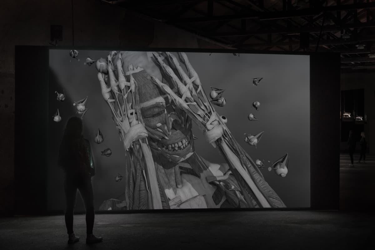 Still-kuva animaatioinstallaatiosta Elements, 2011