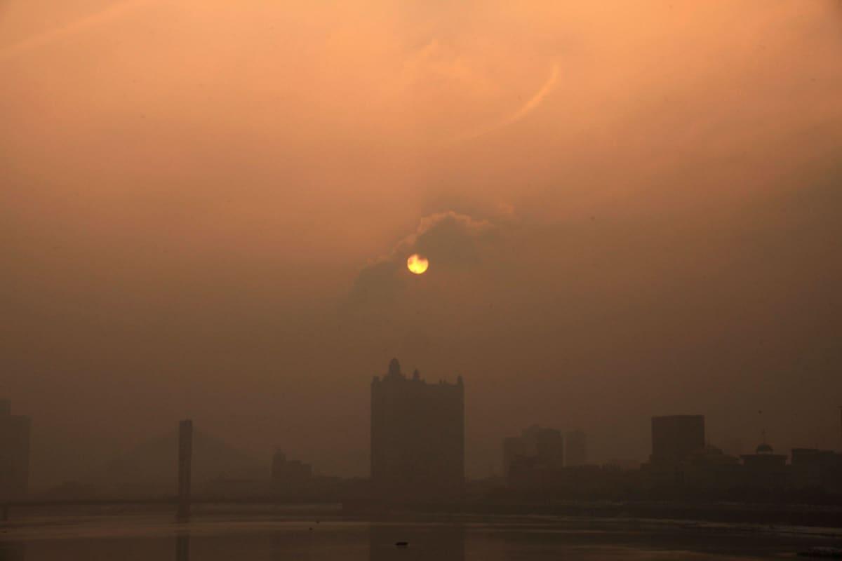 Jilin kaupunki verhoutui ilmansaasteisiin 29. tammikuuta.