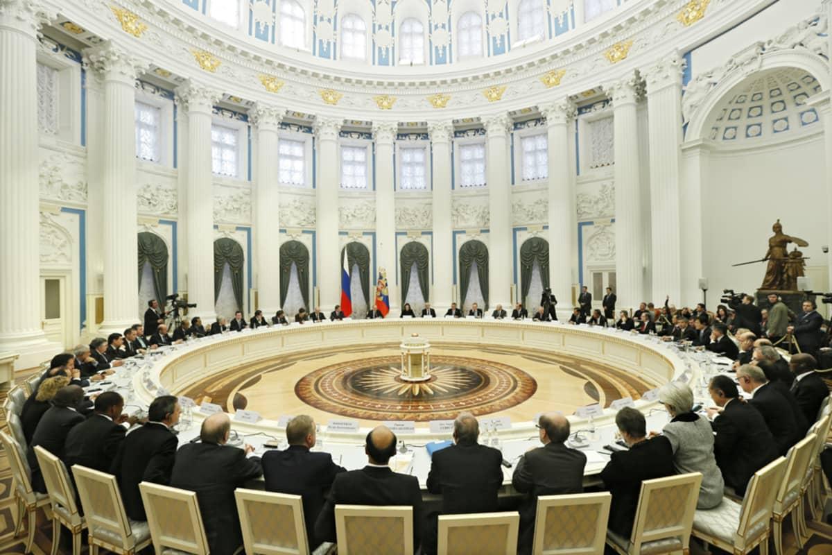 G20-maiden valtionvarainministerit kokoontuivat Moskovassa 15.-16. helmikuuta.
