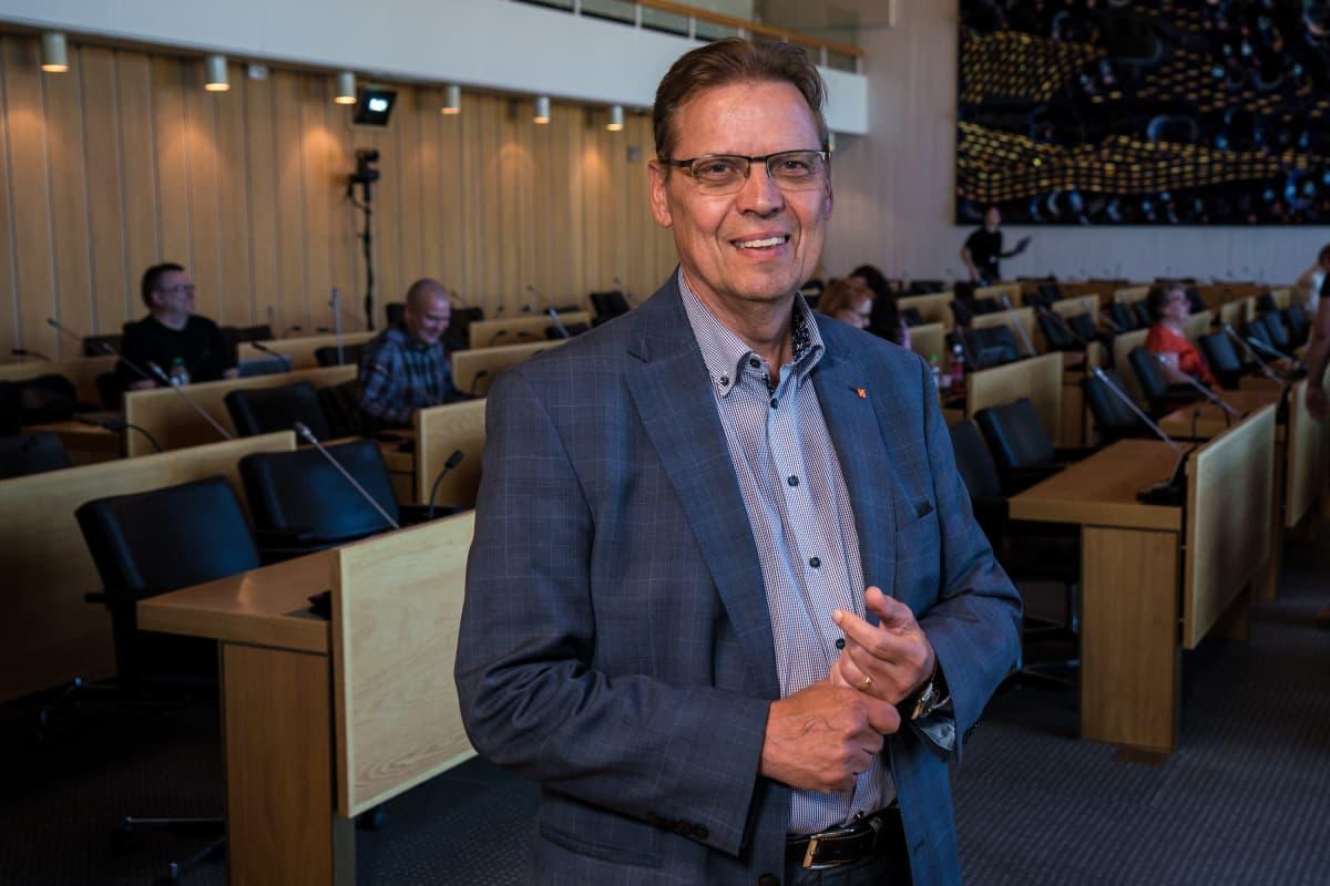 Lauri Lyly Tampereen kaupunginvaltuustossa.