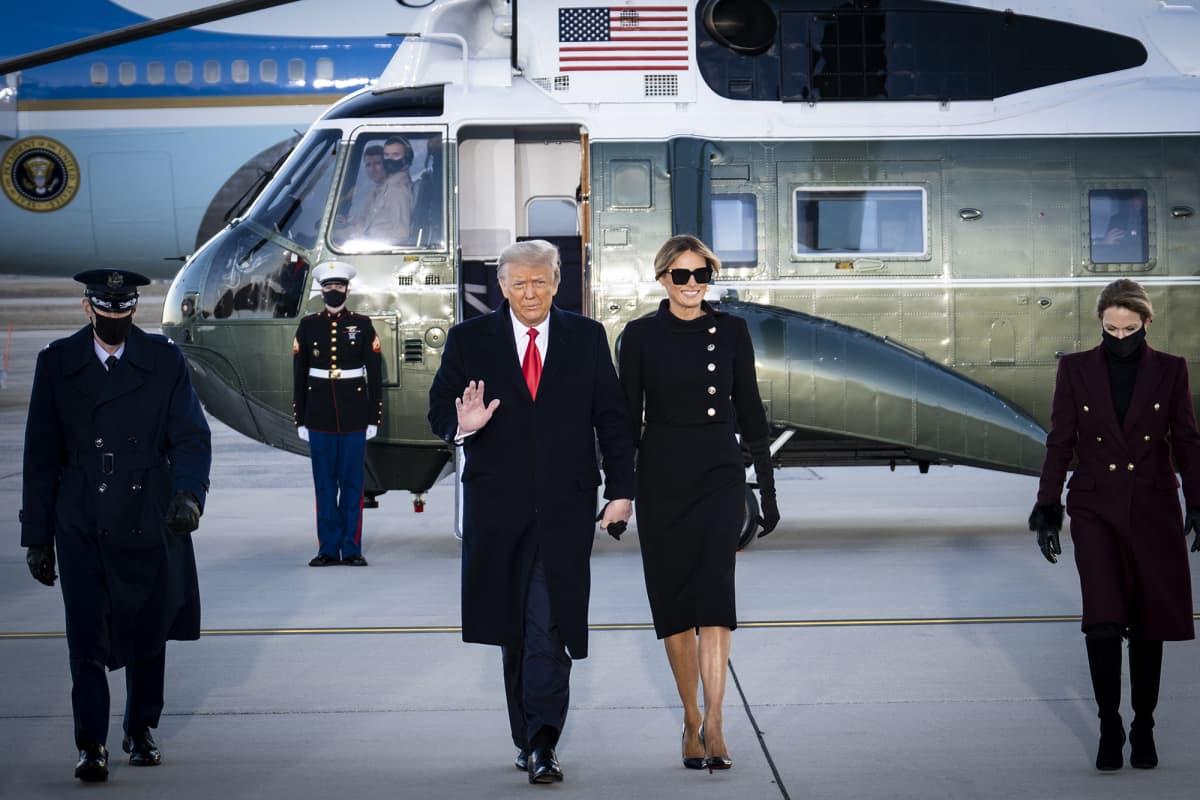Donald Trump ja Melania Trump.