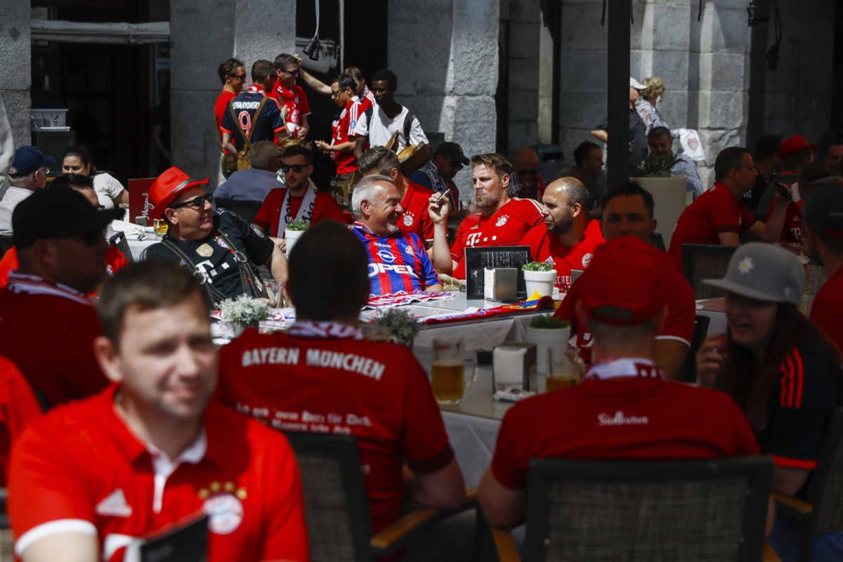 Bayern Münchenin faneja Madridissa.