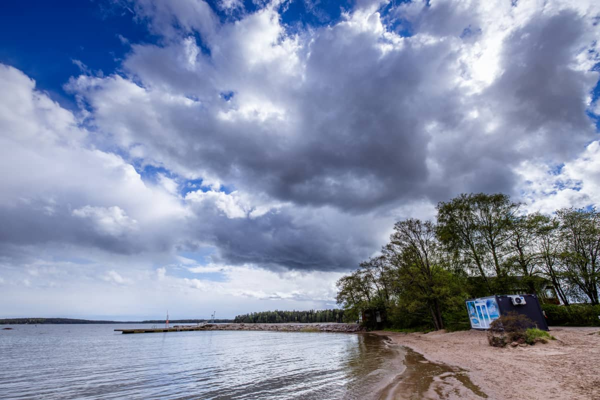 Klobbenin uimaranta Espoon Soukassa.