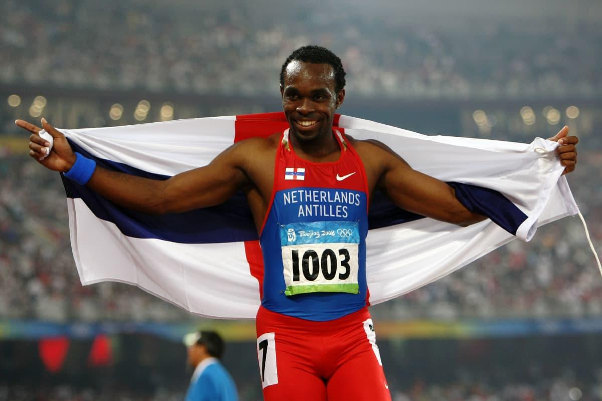 Churandy Martina Pekingin olympialaisissa.