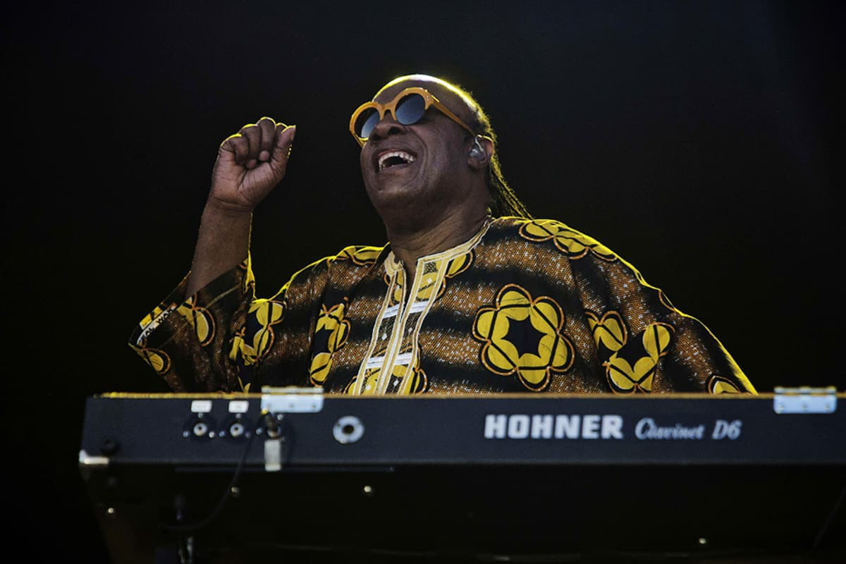 Stevie Wonder esiintyi Roskildessä 6. heinäkuuta 2014.