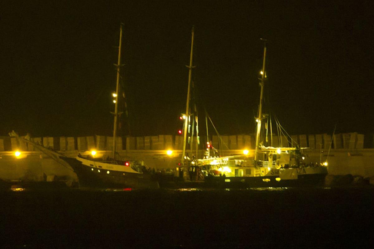 Estelle-laiva Ashdodin satamassa Israelissa 20. lokakuuta 2012.
