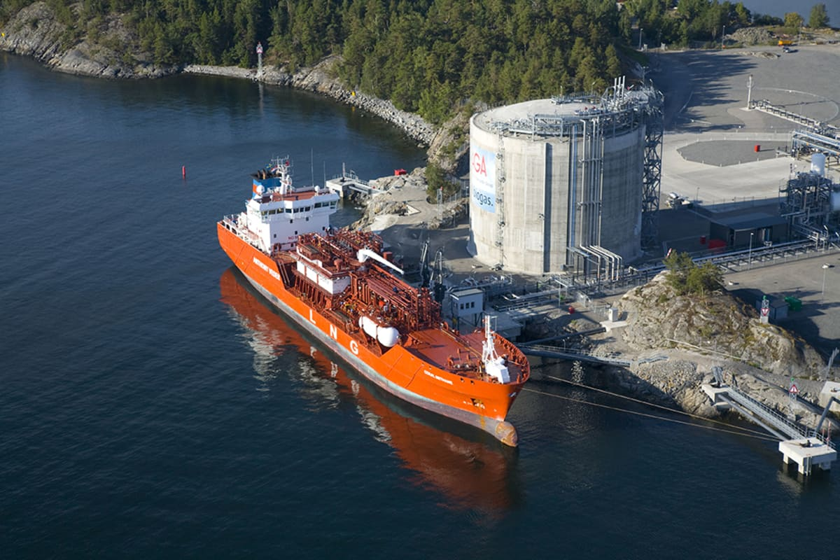 gan LNG-terminaali Nynäshamn.