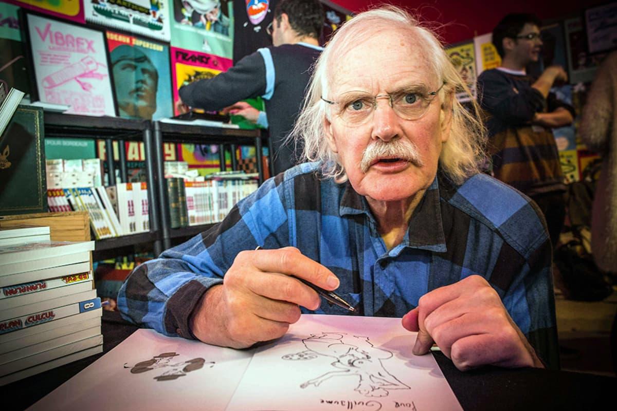 Willem signeeraamassa teoksiaan Angoulemen sarjakuvafestivaaleilla 31. tammikuuta.