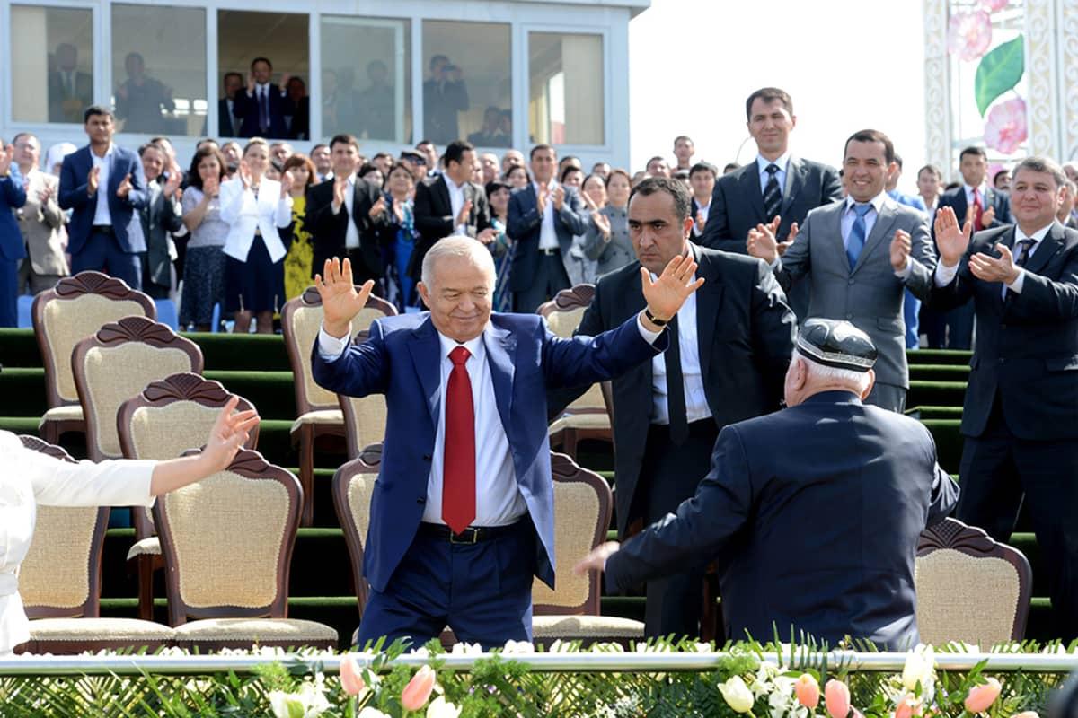 Uzbekistanin presidentti Islam Karimov Tashkentissä, Uzbekistanissa 21. maaliskuuta.