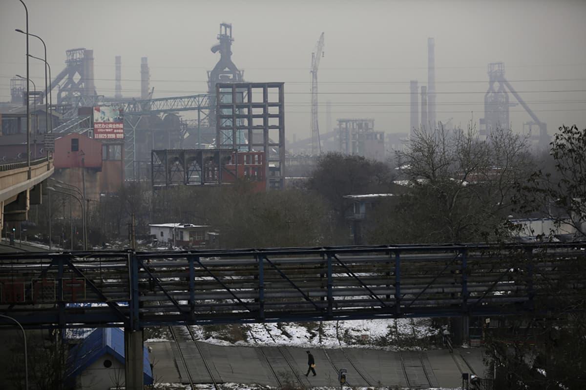 Voimalaitosaluetta pekingissä.