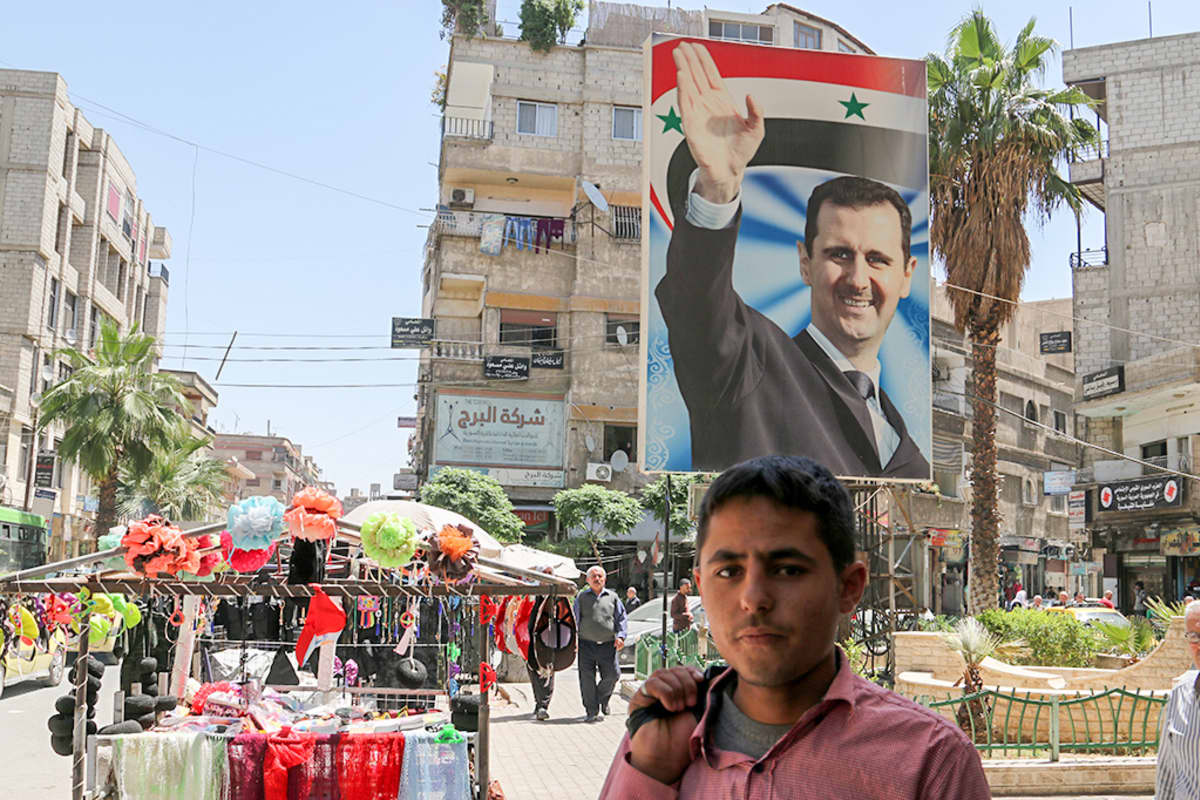 Näkymä torille Damaskoksessa.