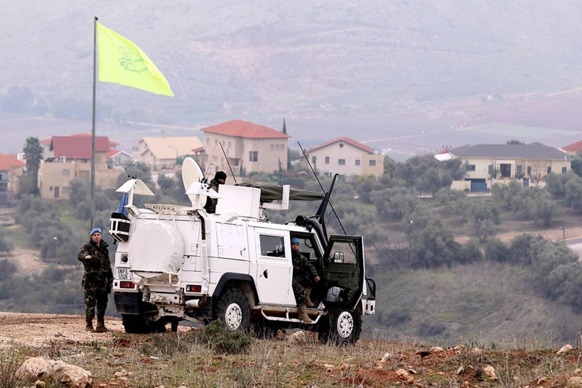 Rauhanturvaajia Libanonissa tammikuussa 2016.