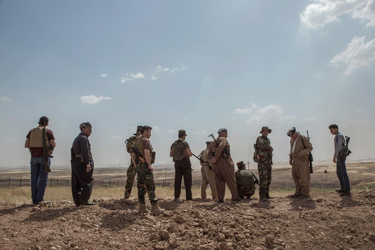 Peshmergasotilaita pohjoisessa Irakissa toukokuun lopulla.