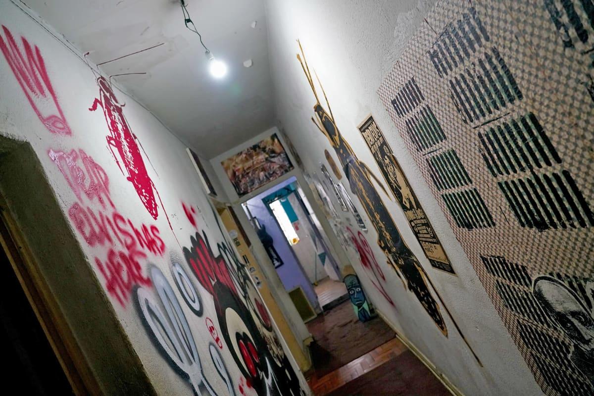 Caffeine Sound Studion käytävä