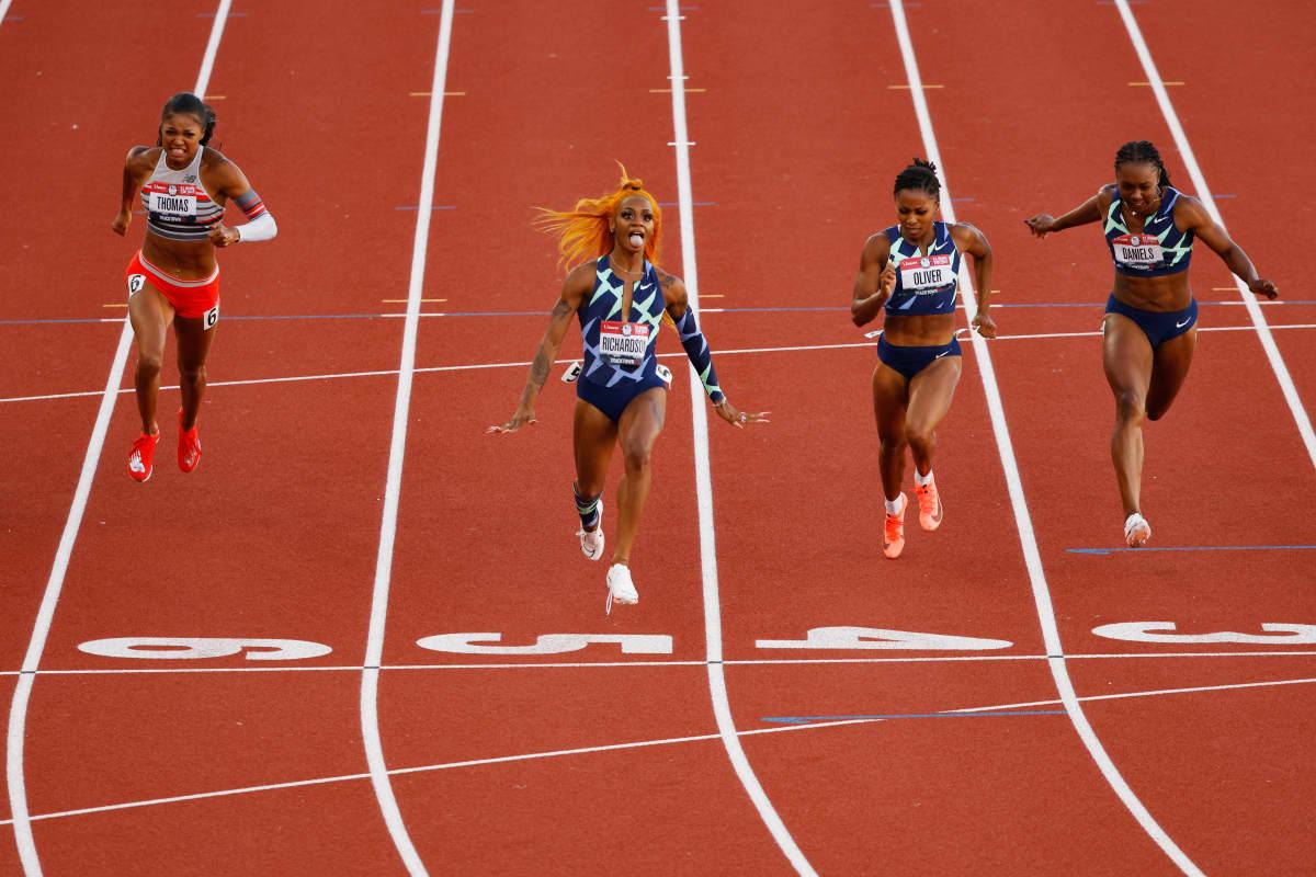 Sha'Carri Richardson voitti Yhdysvaltain mestaruuden 100 metrillä.