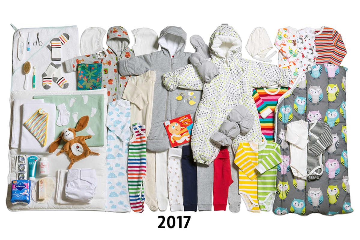 Äitiyspakkaus vuosi 2017