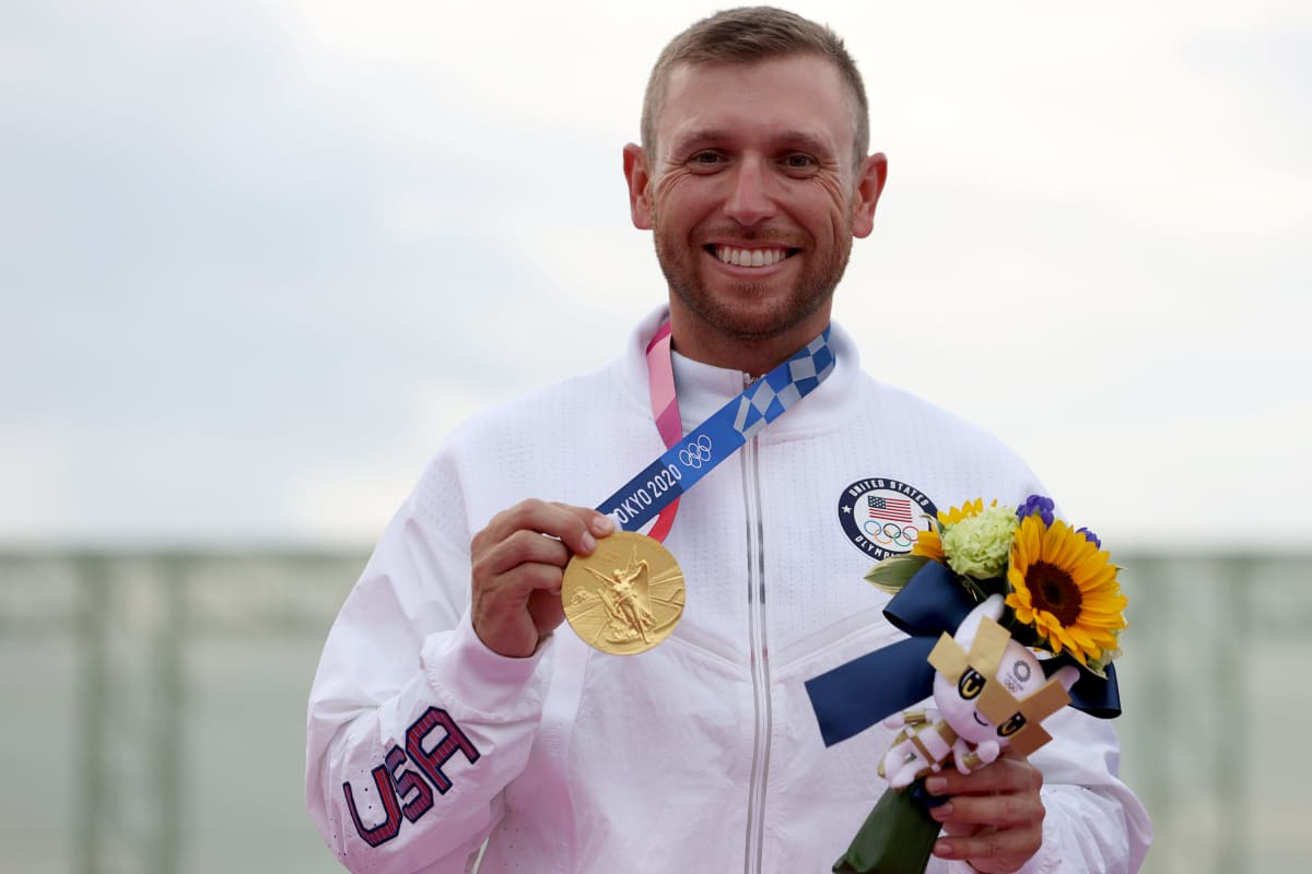 Vincent Hancock juhli uransa kolmatta skeetin olympiavoittoa.