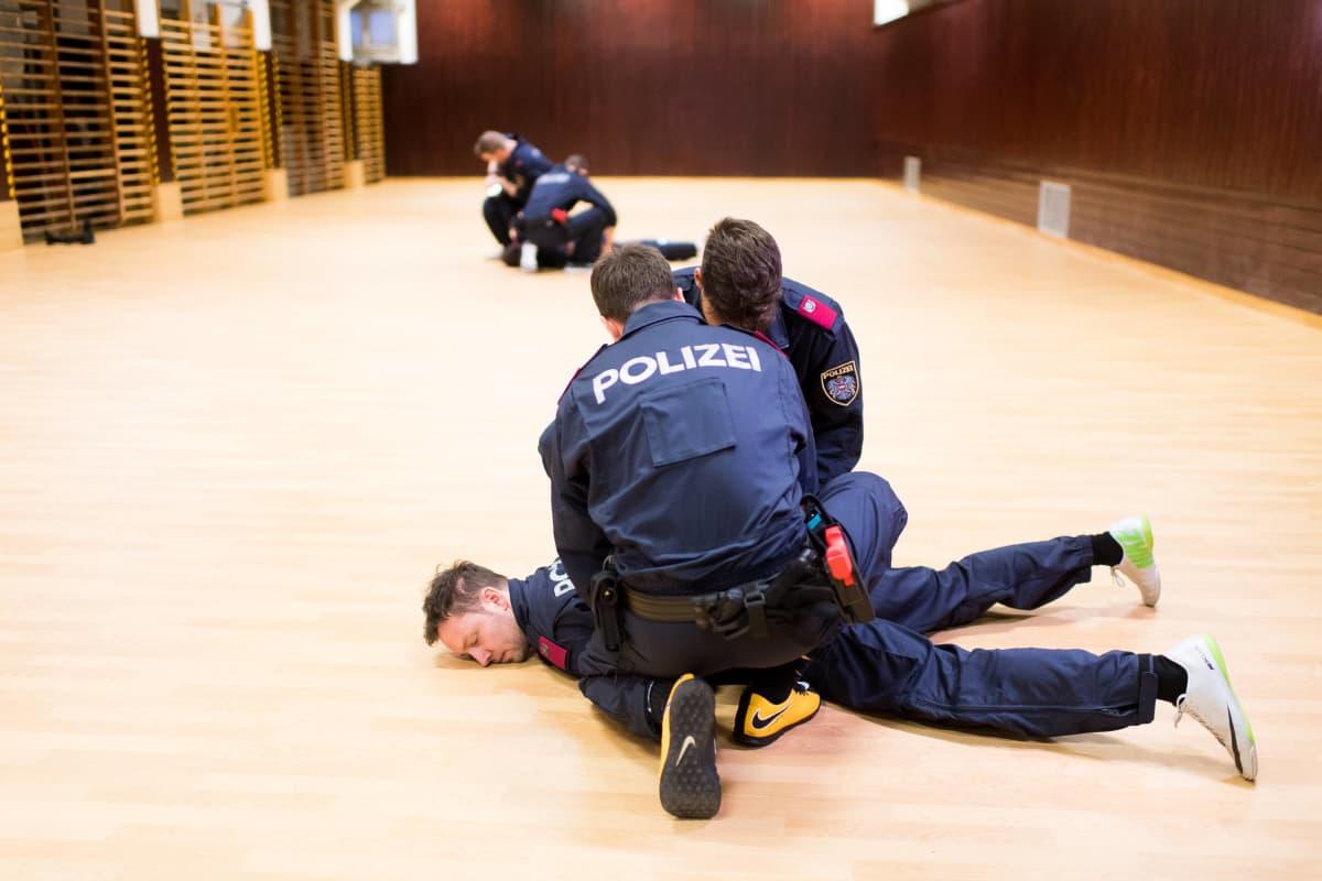Kuva poliisin koulutuskeskuksesta Itävallan Viennasta 2019.
