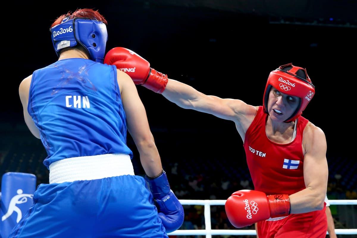 Mira Potkonen voitti olympiapronssia Riossa vuonna 2016.