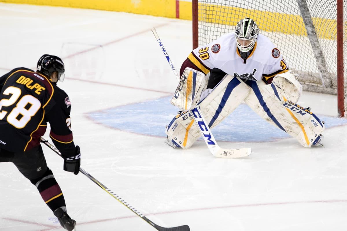 Ville Husso AHL-ottelussa