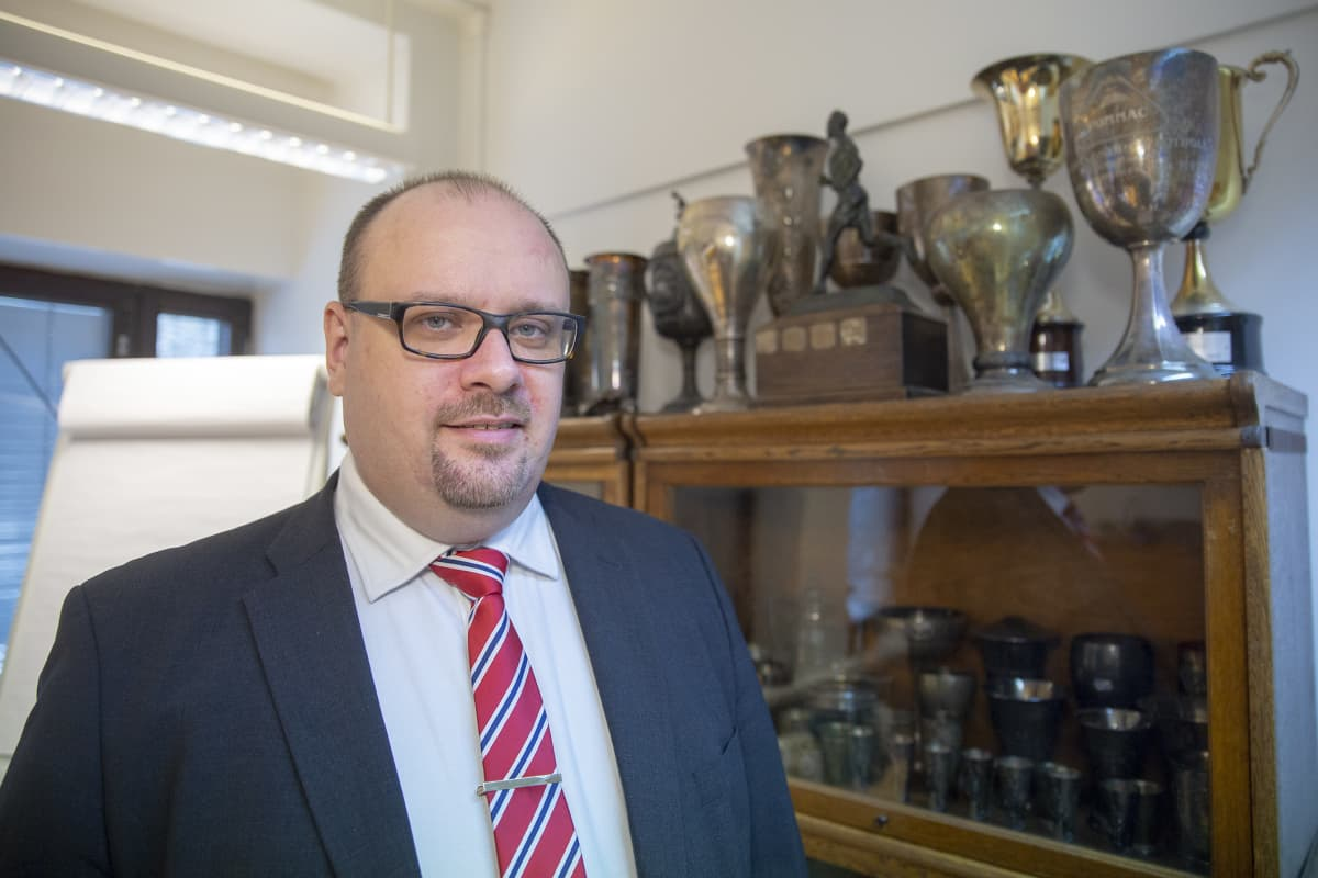 HIFK Fotbollin hallituksen puheenjohtaja Christoffer Perret.