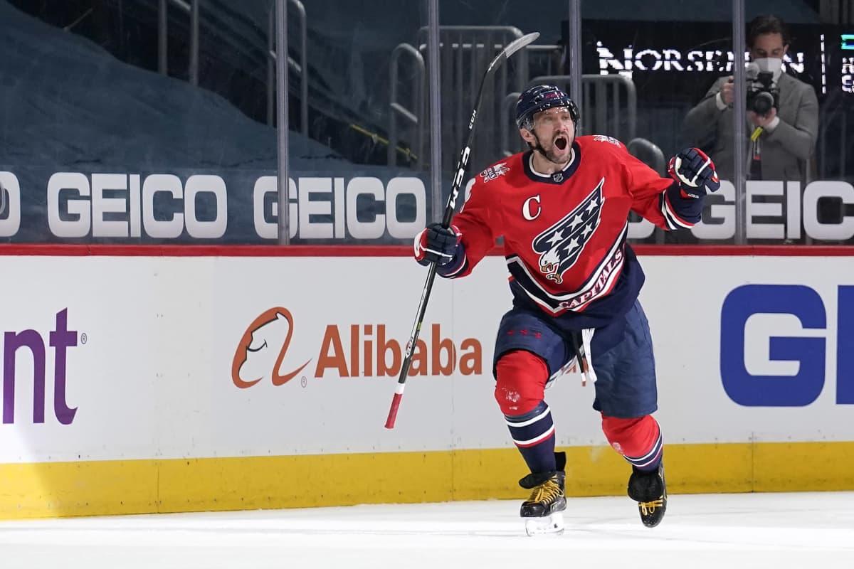Aleksandr Ovetshkin iski uransa 718. NHL-maalin ja nousi kaikkien aikojen tilastossa kuudenneksi.