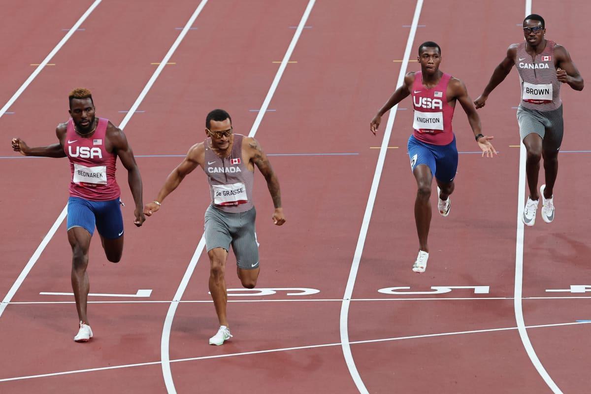 Andre De Grasse voitti 200 metrillä kultaa Tokiossa.