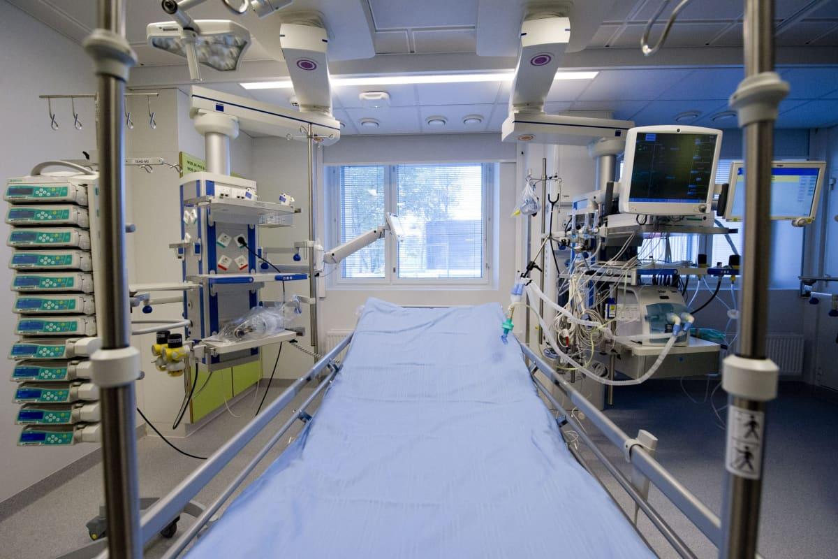 Tehohoitoyksikkö Meilahden sairaalassa.