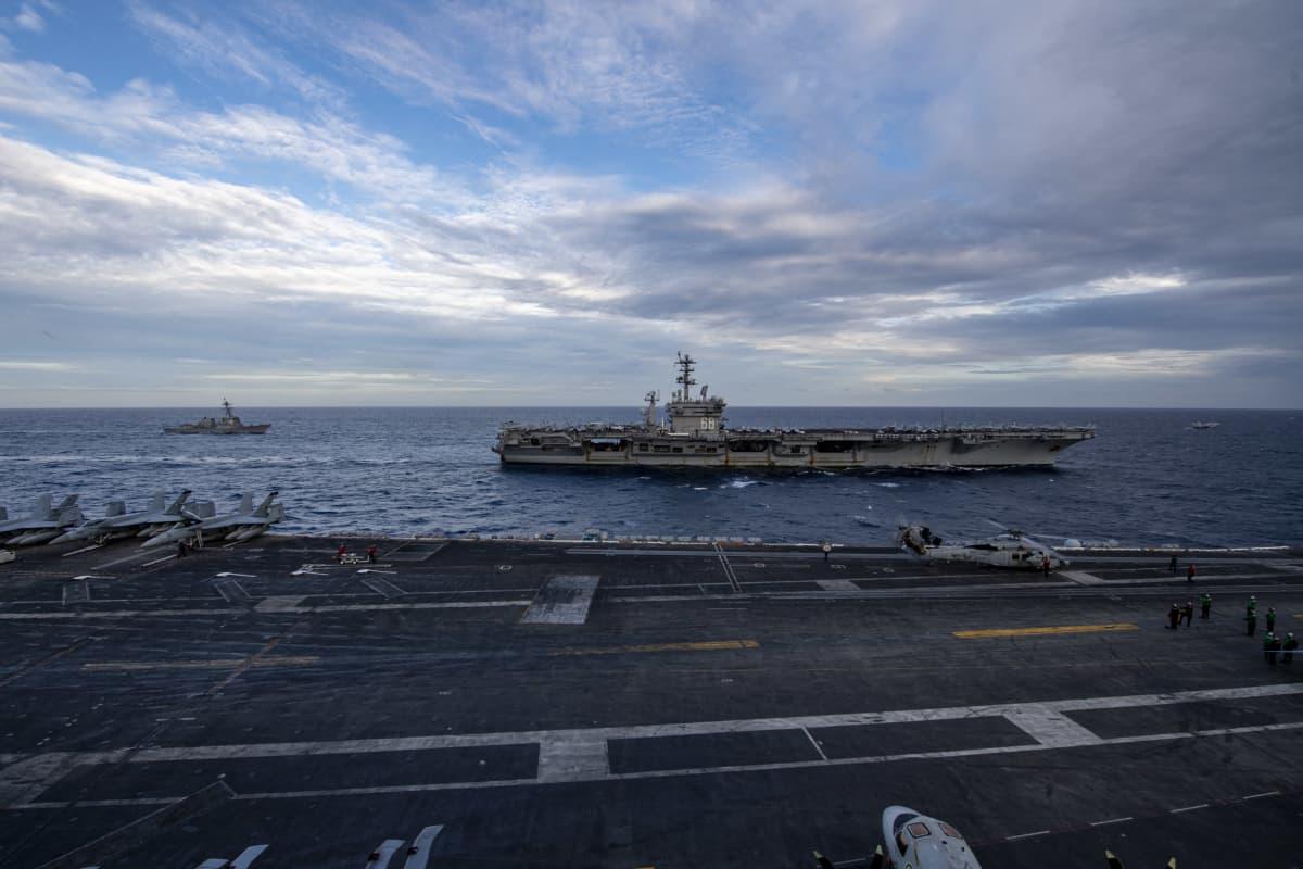 Yhdysvallat harjoitteli Etelä-Kiinan merellä helmikuun alussa.