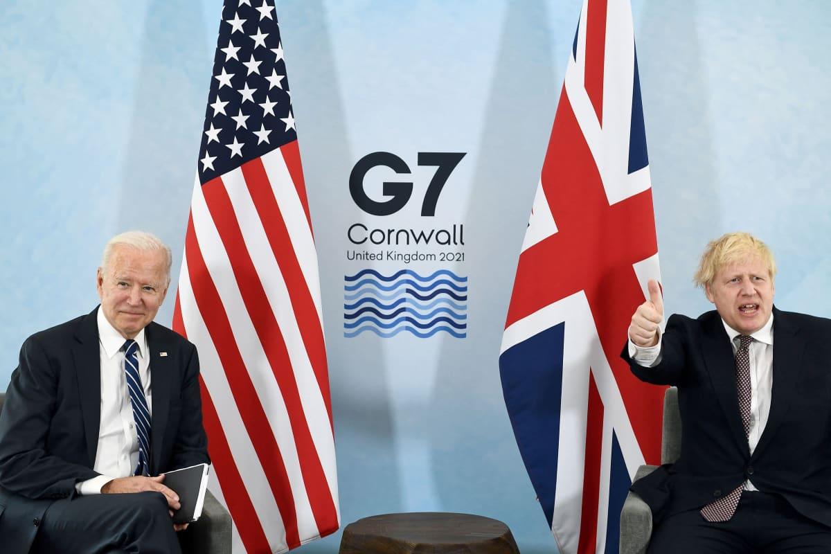 Joe Biden ja Boris Johnson.
