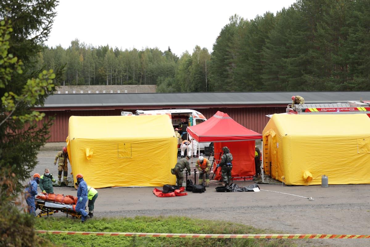 Mikkelissä pidettiin pelastusharjoitus.