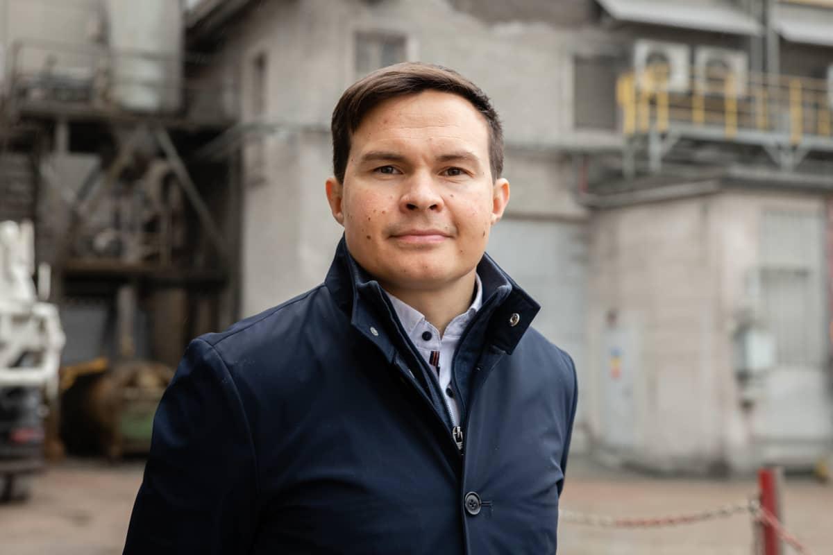 Lappeenrannan Finnsementin tehdaspäällikkö Jarkko Riepponen.